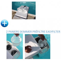 PACK 4 EASYFILTER COMPATIBLE FILTRINOV MX18/MX25 : 2 poches (5 ou 10 M) + 2 PANIERS SKIMMER PRÉFILTRE compatible FILTRINOV